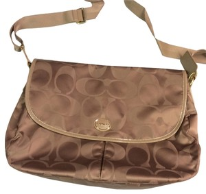 Coach Purse Pocket Book Cross Body British Tan Messenger Bag