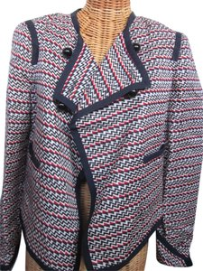 Elizabeth and James Black/red/ivory Blazer