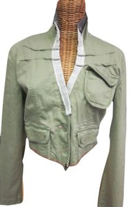 Ghetto Goldilocks One Of A Kind Made In California Khaki/ivory Jacket
