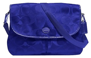 Coach Purse Pocket Book Cross Body Royal Blue Messenger Bag