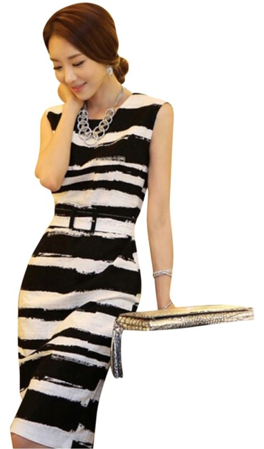 Preload https://item4.tradesy.com/images/black-and-white-elegant-b-and-w-knee-length-workoffice-dress-size-4-s-5848753-0-0.jpg?width=400&height=650
