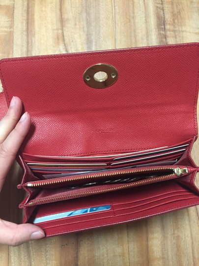 Coach Coach ENVELOPE wallet with pop-up pouch in color block leather in red