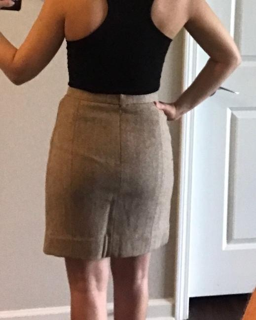 Chanel Made In France Wool/Nylon/Mohair Skirt Tan & Creme Image 9