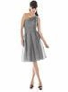 Alfred Sung Grey Other Style D458 Bridesmaid/Mob Dress Size 4 (S)