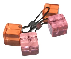 Louis Vuitton Authentic Louis Vuitton Transparent Orange & Pink Hair Cubes