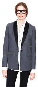 J.Crew Wool Silk Grey with Black Blazer