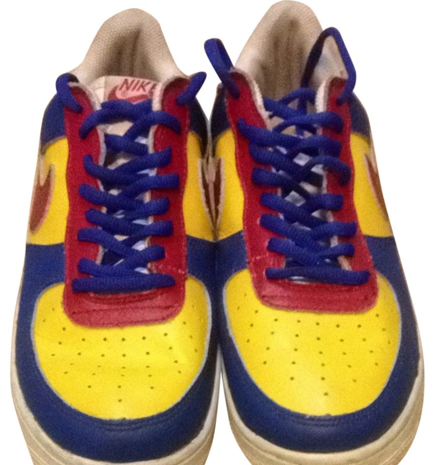 finest selection 1ccf8 4ee9b Nike Blue, Yellow, Red Athletic Image 0 ...