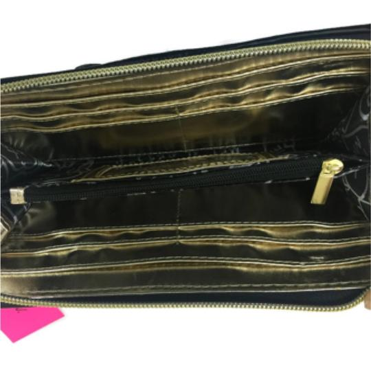 Betsey Johnson Bow Tied Pink Zip Around Wallet