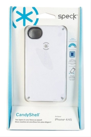 Speck Speck Candyshell iPhone 4 / 4S Case 2 in 1 Hard Soft White Grey Gray NIB