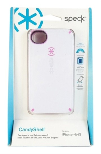 Speck Speck Candyshell iPhone 4 / 4S Case 2 in 1 Hard Soft White Pink NIB