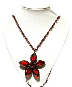 Kate Spade Kate Spade New York Ruby Red Petits Centofolia Flower Long Necklace