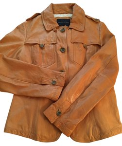 Banana Republic Tan Leather Jacket