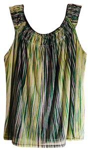 Rafaella Plus-size Sleeveless Top Multi Color