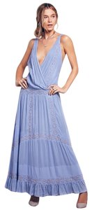 Free People Oberoi Sz Med Azure Blue Dress