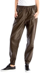 Vince Leather Joggers Leather Pants