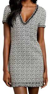 Anthropologie short dress Melange Tweed Shift Textured Fringe on Tradesy