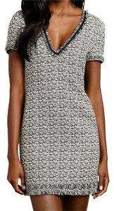 Anthropologie short dress Black/White Melange Tweed Shift Textured on Tradesy