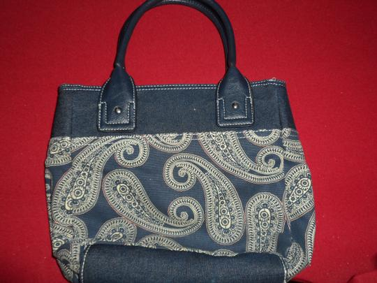 Tommy Hilfiger Tote in Paisley denim, white