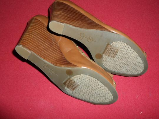 Jessica Simpson Studded Brown Wedges