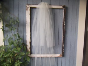 Two Layer Ivory Blusher Wedding Veil 36 X 49