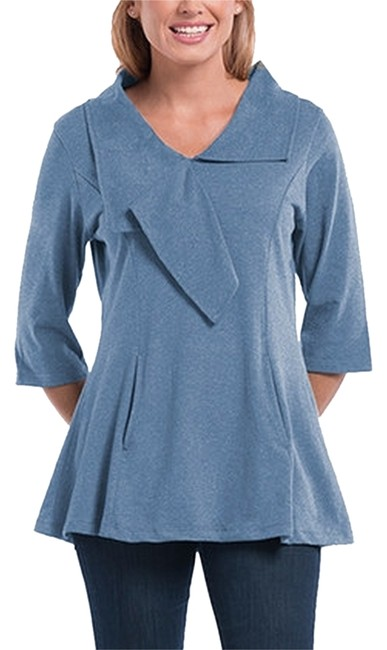 Preload https://item4.tradesy.com/images/blue-and-gray-tunic-size-16-xl-plus-0x-5856418-0-0.jpg?width=400&height=650
