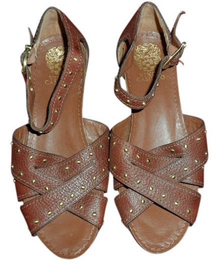 Vince Camuto Studded Warm Brown Sandals