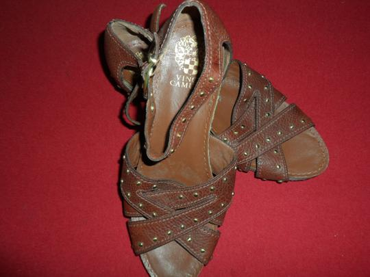 Vince Camuto Studded Warm Brown Sandals Image 1