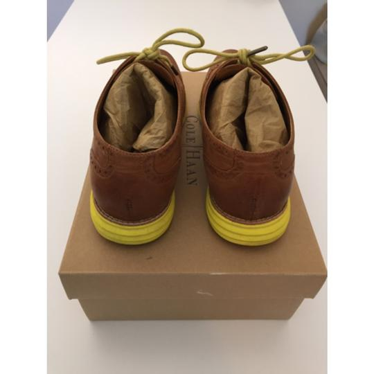 Cole Haan LunarGrand - Smokethorn/Brown/Yellow sole Flats