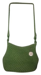 Saks Fifth Avenue Lime Crochet Zipped Hobo Bag