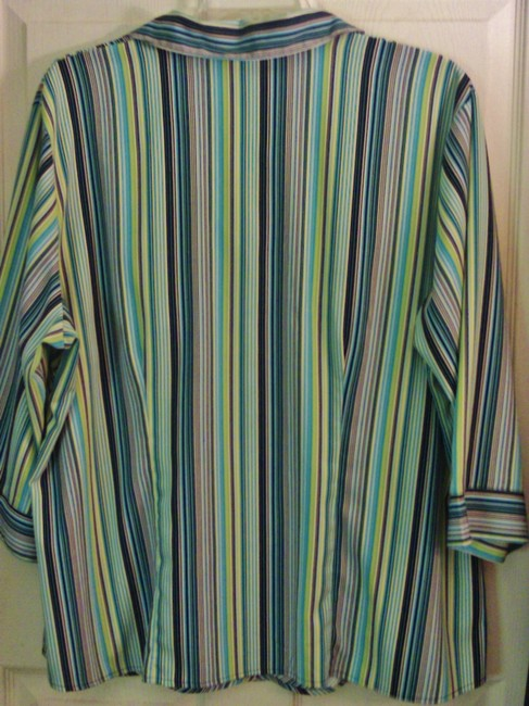 Giorgio Fiorlini Plus-size Top Multi Color Striped