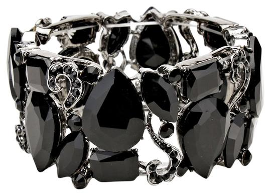 Other Black Rhinestone Crystal Hematite Stretchable Bracelet