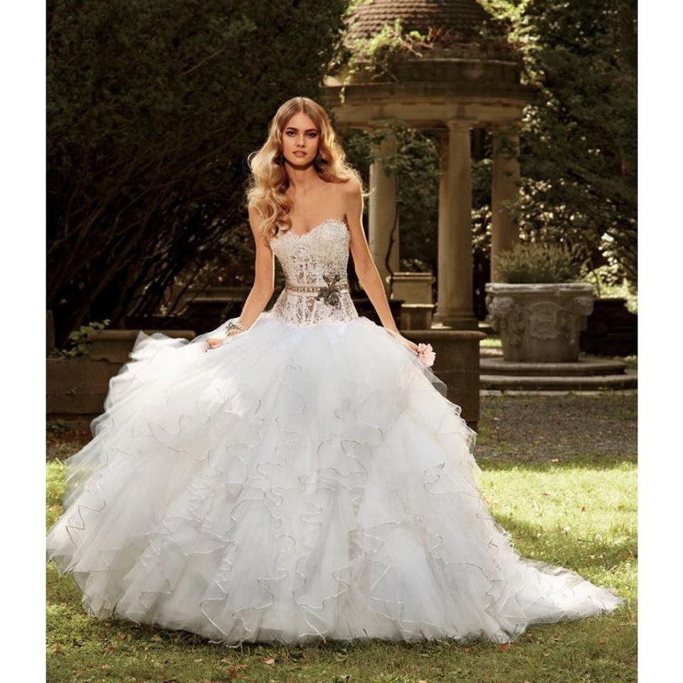 Eve Of Milady Light Ivory Looks Almost White Tulle And Lace Bodice Style 1458 Feminine
