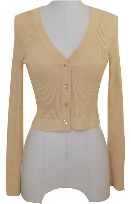 Preload https://item3.tradesy.com/images/herve-leger-cream-banana-yellow-undertone-viscose-sweater-knit-cropped-dress-s-cardigan-size-4-s-5857042-0-0.jpg?width=400&height=650