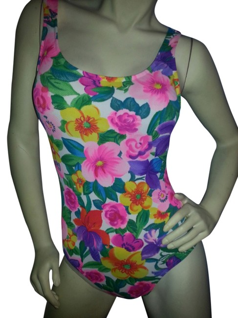 Preload https://img-static.tradesy.com/item/5857372/jantzen-pink-red-purple-orange-yellow-green-blue-floral-on-white-classic-one-piece-bathing-suit-size-0-0-650-650.jpg
