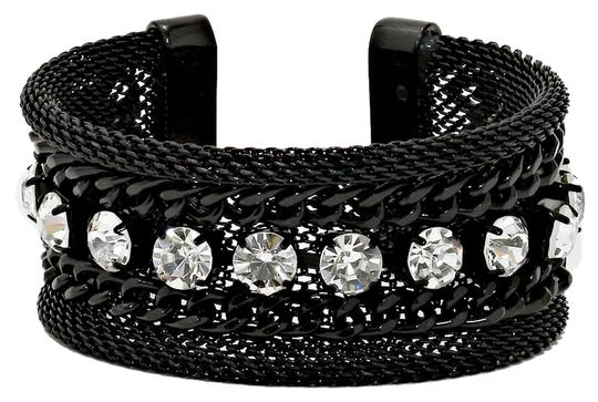 Preload https://img-static.tradesy.com/item/5857825/black-and-clear-crystal-metal-chain-accent-cuff-bracelet-0-0-540-540.jpg