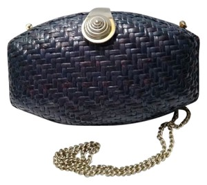 Rodo Made In Italy Rattan Black Clutch