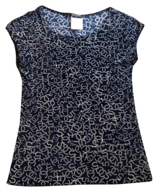 Chanel Top Blue and white
