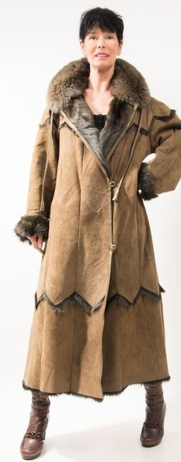 SPRINGBOK LEATHER BLUE FOX Shearling Fo Fur Real Fur Fur Fur Fur Coat