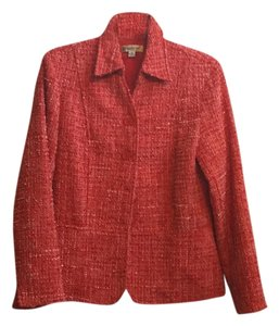 Coldwater Creek Orange/rust tweed Blazer