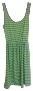Just Love short dress Green And Grey Striped on Tradesy