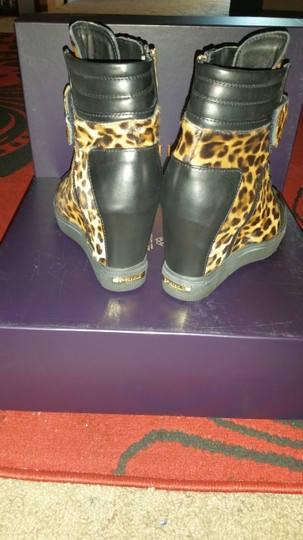 Le Silla Leopard Snaker Calfhair Animal Print Hightop High Top Multi Wedges