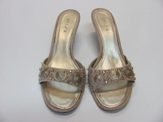 Unisa Good Condition Size 7.50 M Neutral Mules Image 2