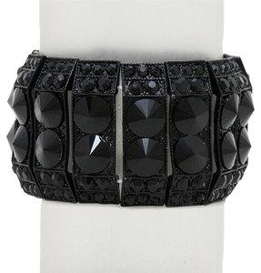 Other Black Arabian Crystal Stretchable Cuff Bracelet