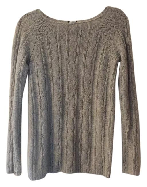 Preload https://item4.tradesy.com/images/jcrew-gray-lightweight-cableknit-sweaterpullover-size-2-xs-5858623-0-0.jpg?width=400&height=650