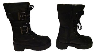 Cr8zy Zippers Buckles Brand New Black Boots