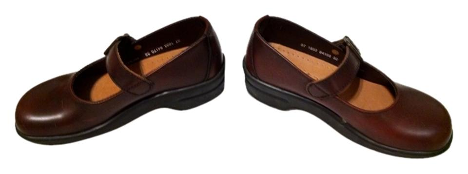 MISS Leather Brown Leather MISS Mary Jane Mules/Slides promotion d5ce46