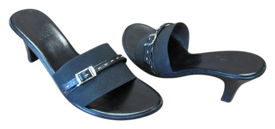 Mootsies Tootsies Very Good Condition Size 8.00 M Black Mules