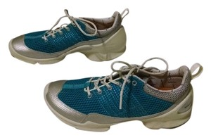 Ecco Walking Aqua Blue/Silver/White Athletic