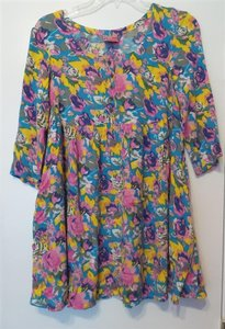 Free People short dress Multi-Color Brights Tunic Short on Tradesy