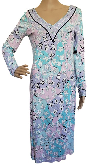 Preload https://img-static.tradesy.com/item/5859913/emilio-pucci-blue-multicolor-white-printed-summer-mid-length-cocktail-dress-size-12-l-0-2-650-650.jpg